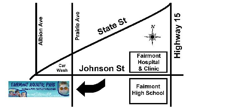 Map to Fairmont Aquatic Park
